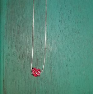 Jewelry - 925 stamped 16 in necklace with charm
